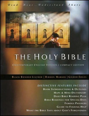 The Holy Bible: CEV Black Bonded Leather, Compact Edition  -