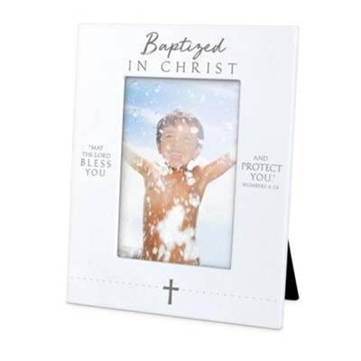 Baptized In Christ Photo Frame, Numbers 6:24   -