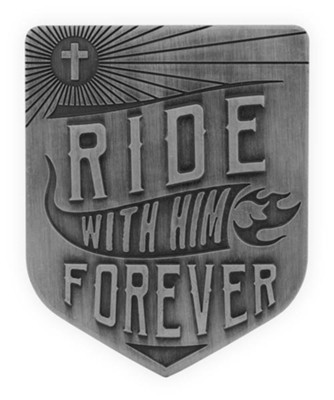 Ride With Him Forever Visor Clip  -