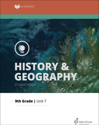 Lifepac History & Geography Grade 9 Unit 7: Regions of the World   -