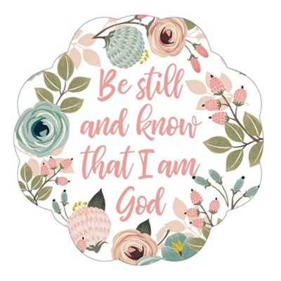 Be Still Sticker Decal, Reusable 2 Pack   -