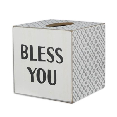 Bless You Tissue Box Cover  -     By: Faith