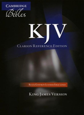 KJV Clarion Reference Bible--goatskin leather, black   -
