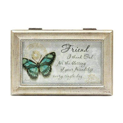 I Thank God For the Blessing Of Your Friendship Music Box  -