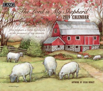 2019 The Lord is My Shepherd, 12-Month Wall Calendar  -