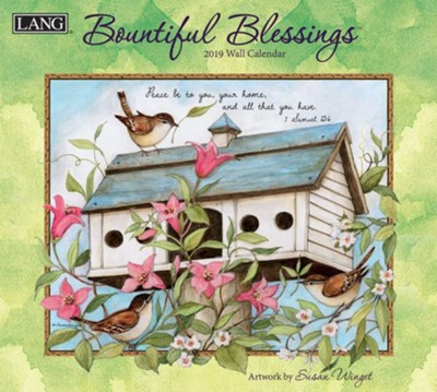 2019 Bountiful Blessings, 12-Month Wall Calendar  -