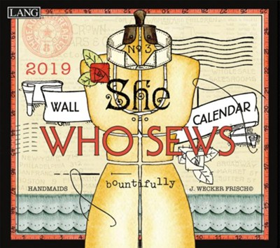 2019 She Who Sews, 12-Month Wall Calendar  -