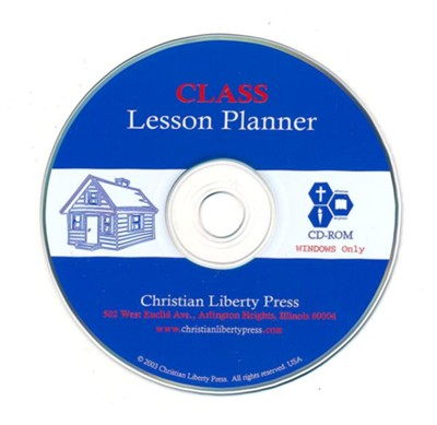 Class Lesson Planner on CD-ROM   -