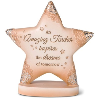 An Amazing Teacher Tabletop Star Plaque  -