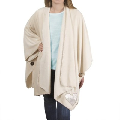 Faith Hope Healing Plush Shawl  -