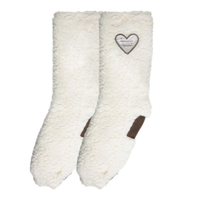 Someone Special Sherpa Slipper Socks  -     By: Comfort Collection