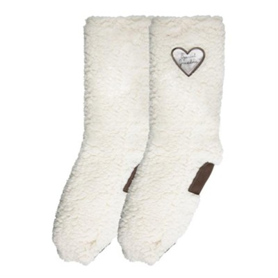 Special Grandma Sherpa Slipper Socks  -     By: Comfort Collection