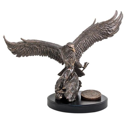 Large Eagle Sculpture, They Will Soar  on Wings Like Eagles  -