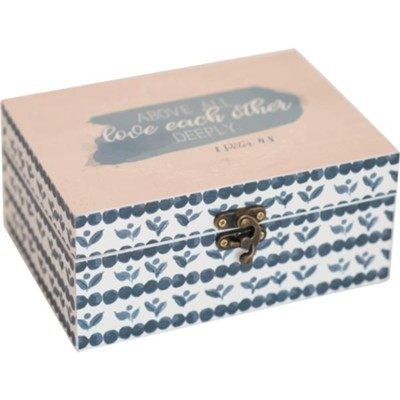 Above All Love Each Other Trinket Box  -