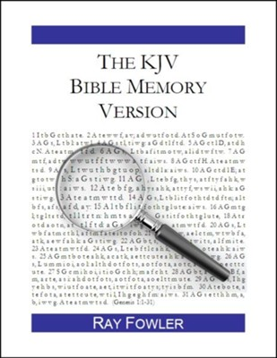 The KJV Bible Memory Version: A Tool for Treasuring God's Word in Your Heart - eBook  -     By: Ray Fowler