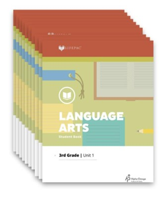 Lifepac Language Arts, Grade 3, Workbook Set   -     By: Alpha Omega