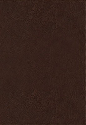 NKJV Lucado Encouraging Word Bible, Comfort Print, Leathersoft, Brown, Indexed  -