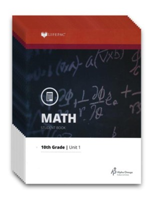 Lifepac Math, Grade 10 (Geometry), Workbook Set   -     By: Alpha Omega