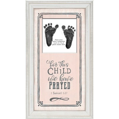 For This Child We Have Prayed Framed Art, Pink  -
