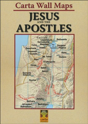 Jesus and the Apostles: Carta Wall Maps   -