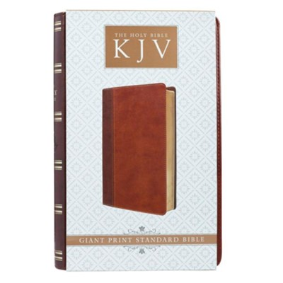 KJV Giant Print Lux-Leather 2-Tone Brown  -