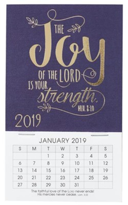 2019 the joy of the lord is your strength mini magnetic calendar