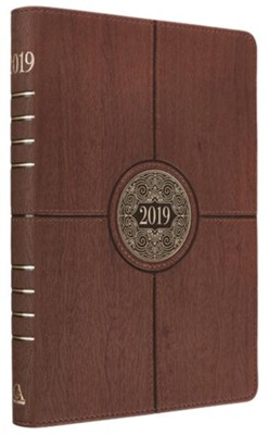 2019 I Can Do All Things, Executive Planner, Lux Leather, Brown with Zipper Closure  -