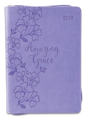 2019 Amazing Grace, Executive Planner Imitation Leather, Purple  -