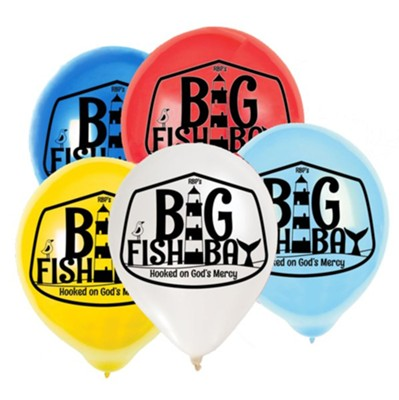 Big Fish Bay: Logo Balloons (pkg. of 25)  -     By: Big Fish Bay