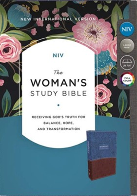 NIV The Woman's Study Bible, Imitation Leather, Blue and Brown, Full-Color  -     Edited By: Dorothy Kelley Patterson