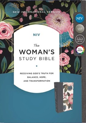NIV The Woman's Study Bible, Cloth over Board, Blue Floral, Full-Color  -     Edited By: Dorothy Kelley Patterson