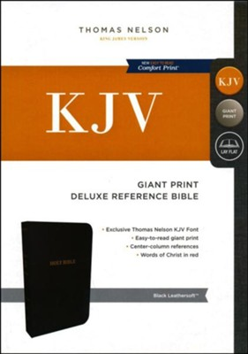 KJV Deluxe Reference Bible, Giant Print, Leather-Look Black  -