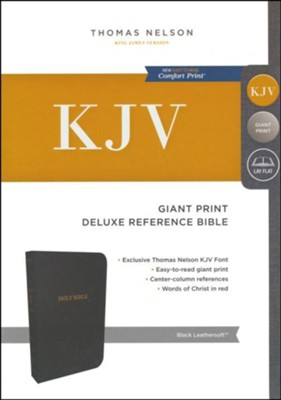 KJV Deluxe Reference Bible, Giant Print, Leather-Look Black Indexed  -