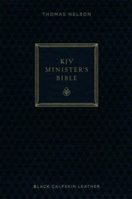 KJV Minister's Bible--genuine leather, black (red letter edition)  -