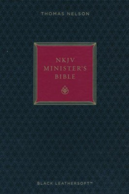 NKJV Minister's Bible--imitation leather, black (red letter edition)  -
