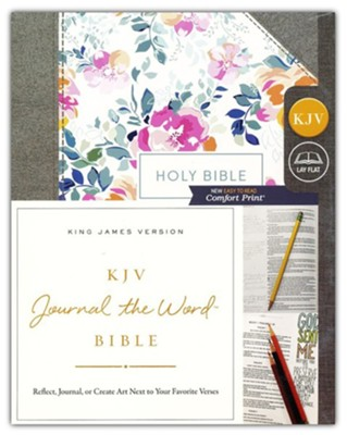KJV Comfort Print Journal the Word Bible, Cloth over Board, Pink Floral  -