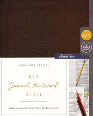 KJV Comfort Print Journal the Word Bible, Bonded Leather, Brown  -