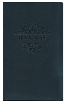 NKJV Comfort Print Holy Bible, Soft Touch Edition, Imitation Leather, Black  -