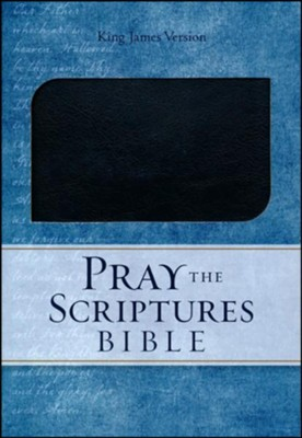 KJV Pray the Scriptures Bible, Duravella, black  -     By: Kevin Johnson