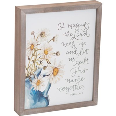 Magnify the Lord with Me Framed Art  -     By: Ruth Chou Simons