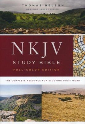 NKJV Comfort Print Full Color Study Bible, Hardcover  -