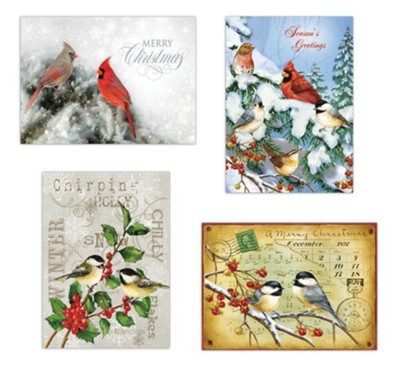 Assorted Birds Christmas Cards, Box of 12  -