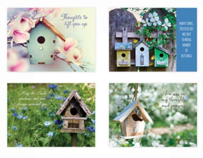 Birdhouses, Thinking of You Cards, Box of 12   -