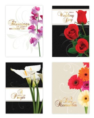 Assorted Wedding Cards, Box of 12  -