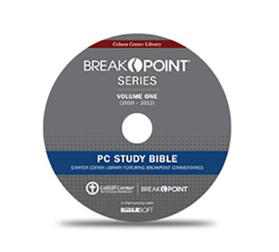 Biblesoft Starter Edition PC Study Bible, Featuring BreakPoint Commentaries  -     By: Chuck Colson