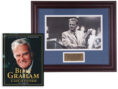 Billy Graham Commemorative Print & A Life in Pictures Bundle (Billy Graham and the Bible)  -     By: Ken Garfield