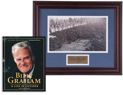 Billy Graham Commemorative Print & A Life in Pictures Bundle (Billy Graham in New York, 1991)  -     By: Ken Garfield