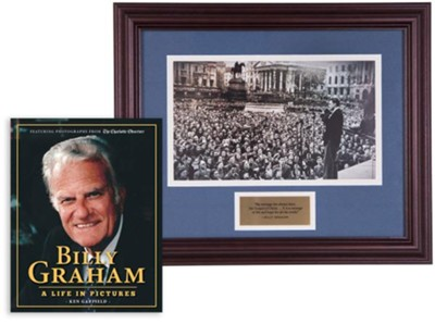 Billy Graham Commemorative Print & A Life in Pictures Bundle (Billy Graham in London, 1954)  -     By: Ken Garfield