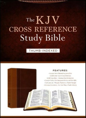 The KJV Cross Reference Study Bible - Imitation Leather, indexed (masculine)  -     By: Christopher D. Hudson