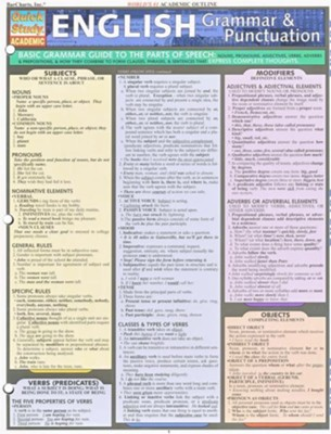 English Grammar & Punctuation Chart   -